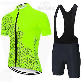 Confortable Mode Cyclisme Jersey Set 2021 Respirant BicycleTtes Ciclismo Vêtements Été Homme Manches Courtes