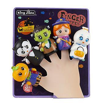 Silktaa 5 Pièces Halloween Doigts d'enfants Marionnettes Doigt Coloré Party Jouets