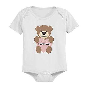 I Love You Baby Bear Cute Infant Bodysuit Great Gift Idea for Holiday
