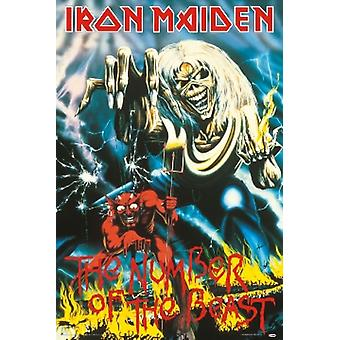 Iron Maiden Beast Number Of The Beast Poster Poster Print