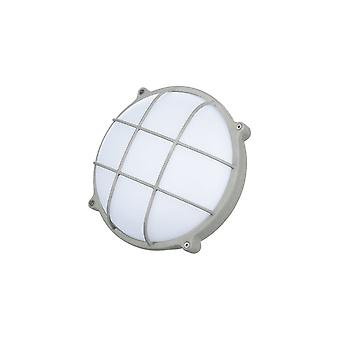 Timeguard Round Graphite Grey Crosshatch 25W LED Outdoor Bulkhead