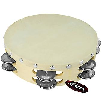 Tiger 8inch Double Row Wood Tambourine