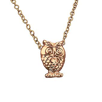 Owl - 925 Sterling Silver Plain Necklaces - W19586X