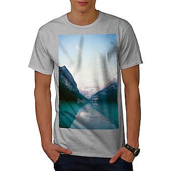 Snow Lake Mountain Men GreyT-shirt | Wellcoda