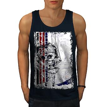 Evil Girl Doll Horror Men NavyTank Top | Wellcoda