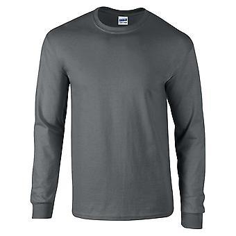 Camisa de algodão T Gildan Mens manga longa estilo Ultra suave