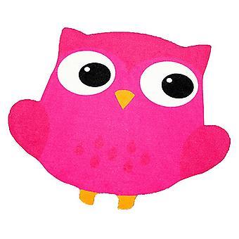 Children short-pile carpet OWL in the contour cut pink 101827