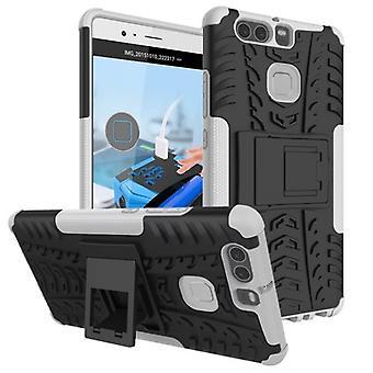 NEX stil hybrid tilfelle 2 stykke utendørs hvitt for Huawei P9 bag coveret beskyttelse
