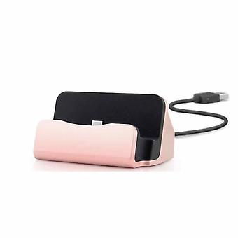 Cradle sync charger dock charging stand for micro USB smart phones pink