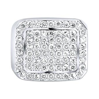 Sterling 925 Silver pave ring - BLING