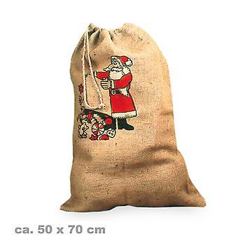 Nicholas borsa tela 50x70cm Natale accessorio stampa