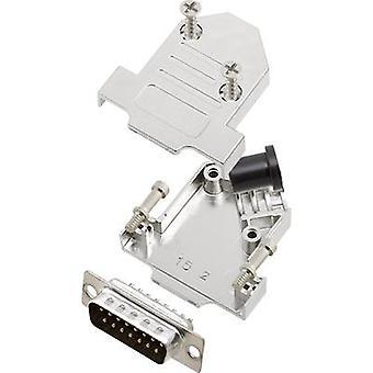 encitech D45NT15-M-DBP-K 6355-0072-02 D-SUB PIN Strip set 45 ° antal stift: 15 Lödskopa 1 set