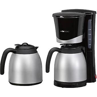 Clatronic KA 3328 Coffee maker Black, Silver Cup volume=10 Thermal jug