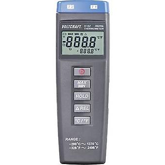 VOLTCRAFT K102 Thermometer -200 up to +1370 °C Sensor type K Calibrated to: Manufacturers standards (no certificate)