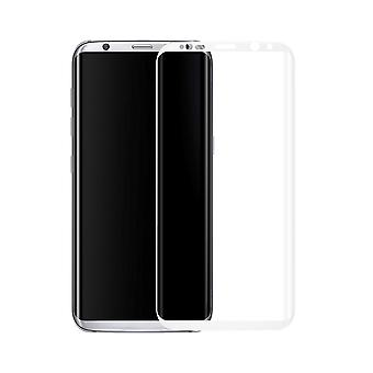 Samsung Galaxy S8 + plus 3D armoured glass foil display 9 H protective film covers case white