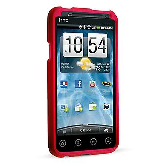 Technocel Soft Touch schild voor HTC EVO 3D - rood