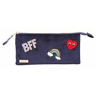 Depesche Top Model fluweel blauw Bff potlood geval make-up schooltas