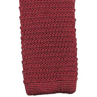 Knightsbridge halsdukar stickad slips - Burgundy
