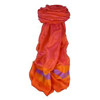 Varanasi Border Prime Silk Long Scarf Heritage Ganguly 914 by Pashmina & Silk
