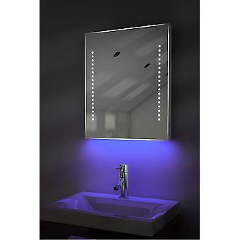 Afeitador Ambiental LED Espejo de Baño con Demister Pad & Sensor K55st