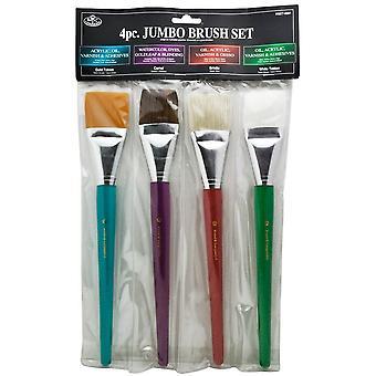 Royal & Langnickel 4 Piece Jumbo Brush Set