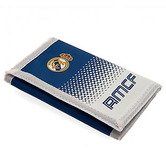 Real Madrid FC Touch Fastening Fade Design Nylon Wallet