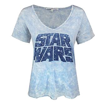 Junk Food Star Wars Logo Women's Oversized T-Shirt Blue