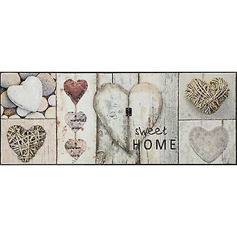 lavar + secar corações vintage 75 x 190 cm sujeira lavável esteira esteira