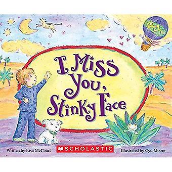 Jag saknar dig, stinkande ansikte styrelse bok
