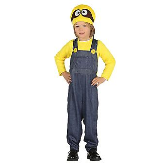 Boys Miner Minion Fancy Dress Costume