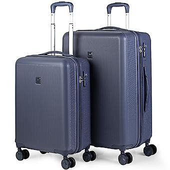 Set of Travel Suitcases Cabin Size and Medium Model Stockholm 171015