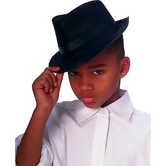 子供黒のソフト帽