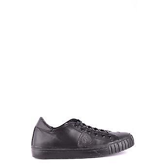 Philippe Modelo Ezbc019025 Men's Black Leather Sneakers