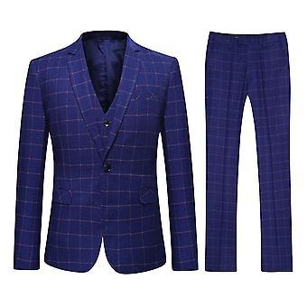 Versão coreana moderna um botão 3-Piece Suit Allthemen masculino