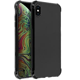 iPhone XS Max Case, Enforced Angles, Silicone Skin - Black