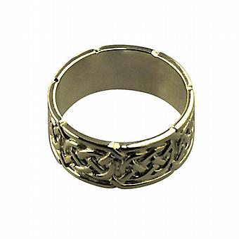 9 قيراط الذهب 8 مم سلتيك خاتم الزواج حجم Q