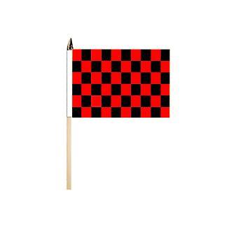Black & Red Check Flag