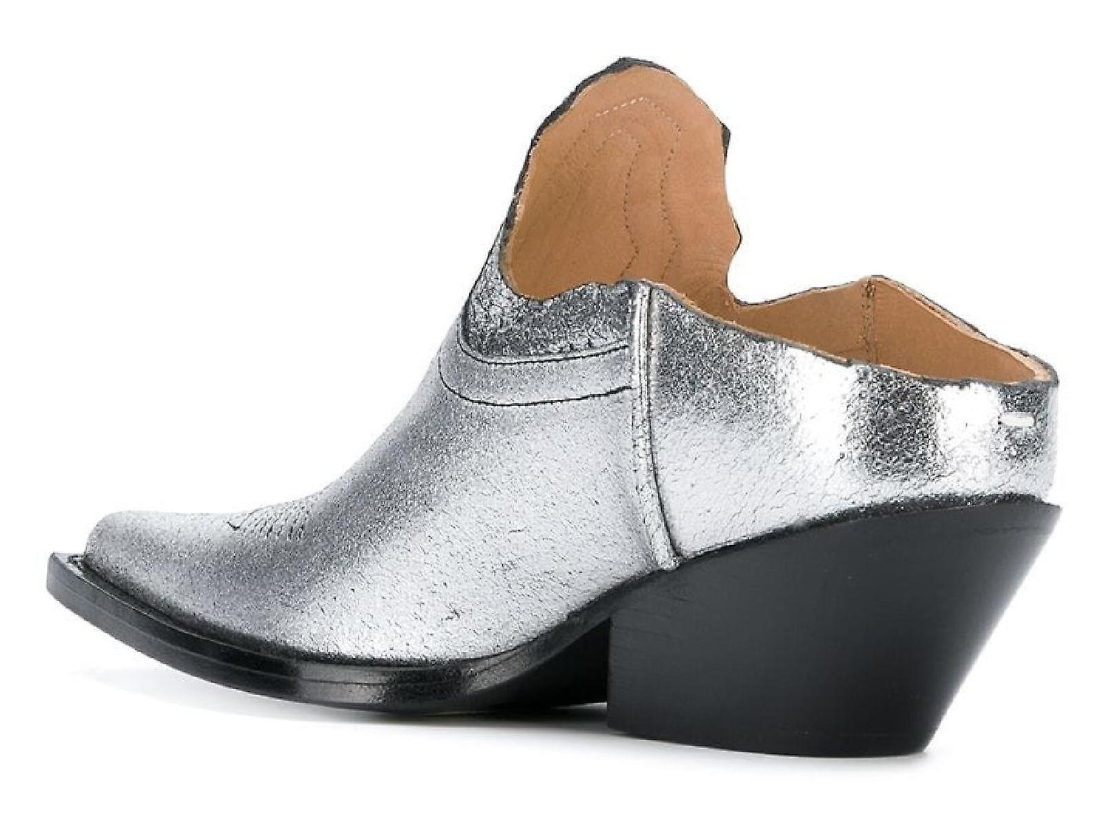 Maison Margiela S58wu0231p1987h4391 Women's Silver Leather Slippers 1jc1Hv