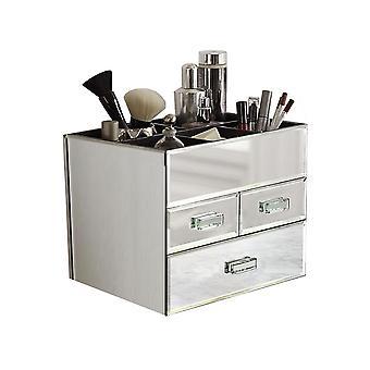 OnDisplay Miro 3 låda nivåindelade spegelglas Makeup/smycken Organizer