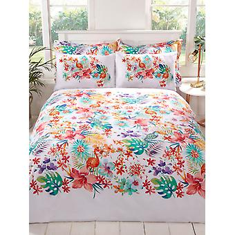 Tropical Single Duvet Cover and Pillowcase Set