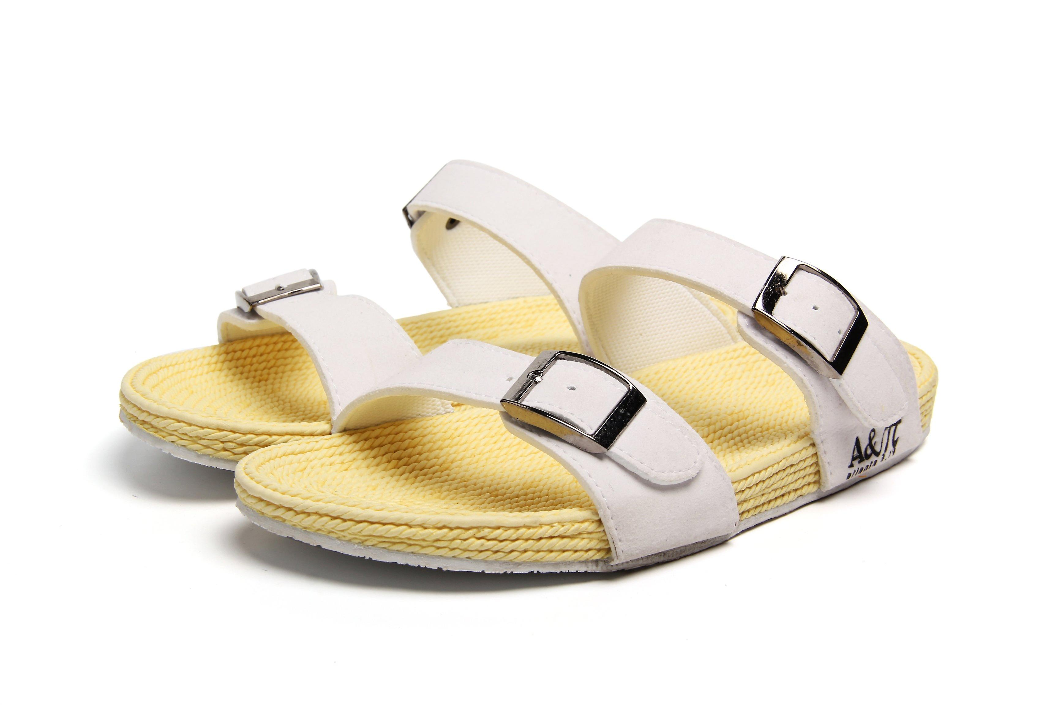 Dual band white-beige sandals