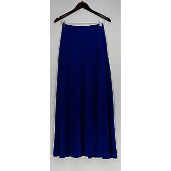 Lisa Rinna Collection Skirt Pull-On Knit Maxi w/ Side Slit Blue A265400
