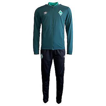2019-2020 Werder Bremen Umbro Knit Tracksuit (Green)