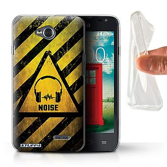 STUFF4 Gel TPU Case/Cover for LG L65/D280/Noise/Music/Hazard Warning Signs