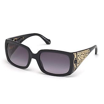 Roberto Cavalli RC804S-01B Women's Shiny Black Gradient Smoke Lens Sunglasses