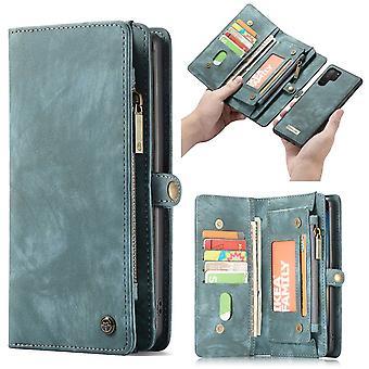 CASEME Samsung Galaxy Note 10 Plus Retro Wallet Case-Blue