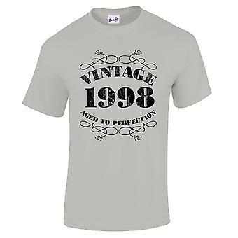 Mannen ' s 21e verjaardag T-Shirt Vintage 1998 nieuwigheid giften voor hem