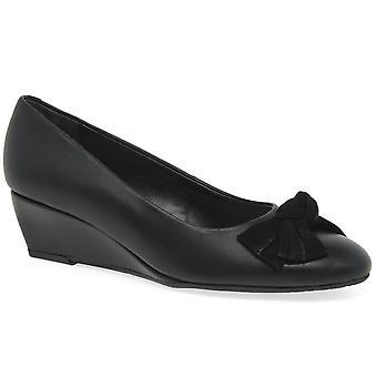Van Dal Bourne Womens Wedge Heel Court Shoes