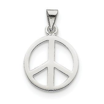 925 εξαιρετικά ασημένια γυαλισμένα κλειστά πίσω δώρα κοσμήματος περιδεραίων κρεμαστών κοσμημάτων σημαδιών ειρήνης για τις γυναίκες