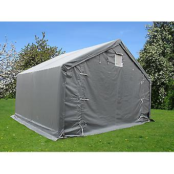 Storage shelter PRO 4x4x2x3.1 m, PVC, Grey